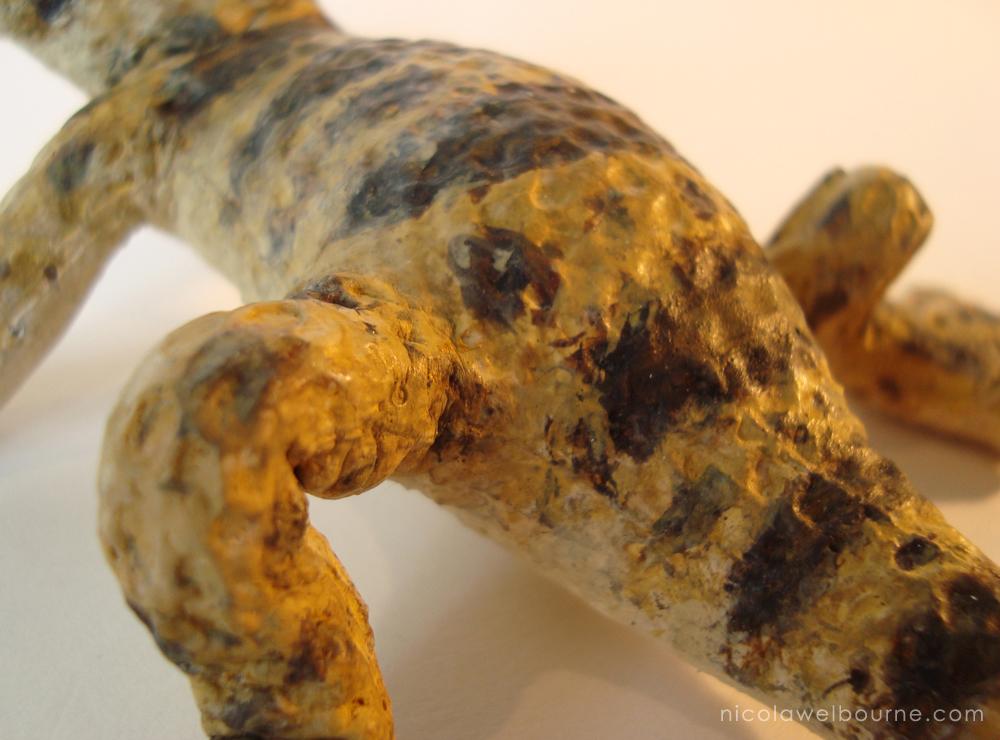 Sun Dried Gecko Puppet Skin
