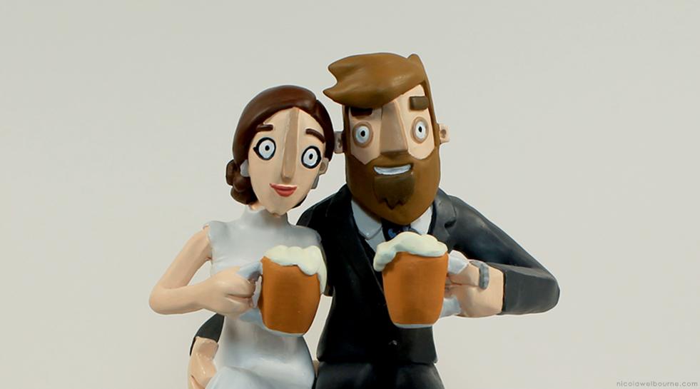 merry wedding cake topper_a4matic