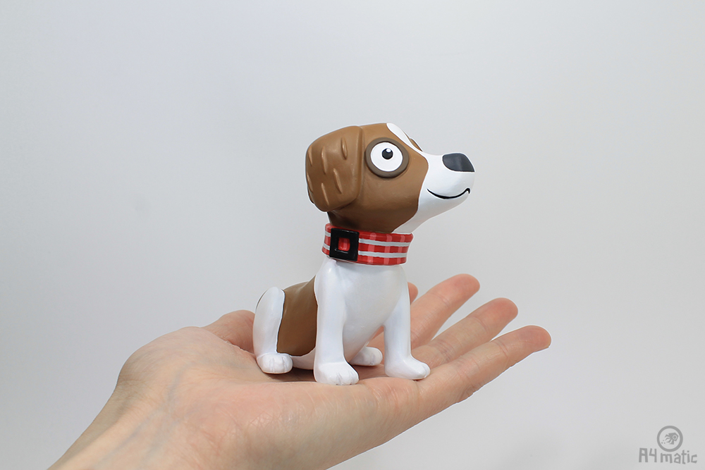 A4matic Dog Model Painted 0008